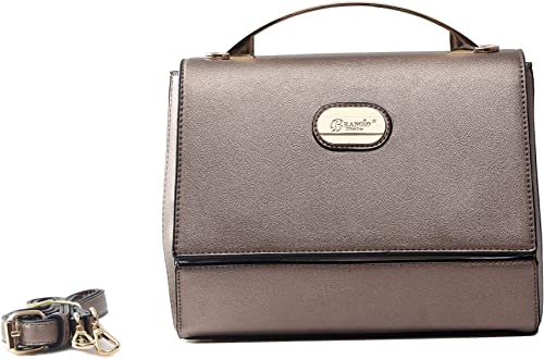 Brangio Italy Vegan Leather Crossbody Satchel Handbag
