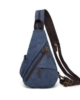 DaVan Multifunctional Canvas Sling Bag MF Blue