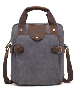 DaVan Canvas Messenger Bag Grey