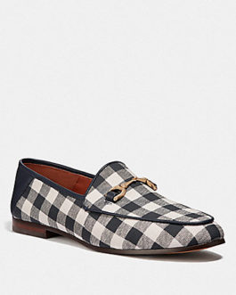 Coach Haley Loafer with Gingham Print