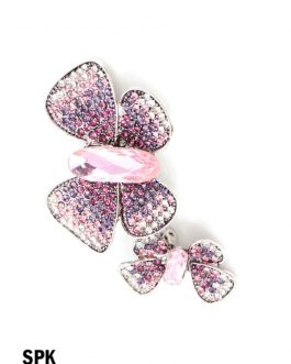 Butterfly Brooch With Rhinestone and Gem